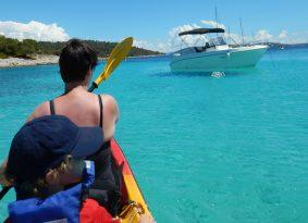 kayak tour Trogir Croatia blue lagoon