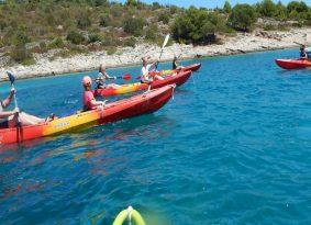 Kayaking Blue Lagoon on a tour