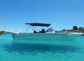 kayak and boat combination Trogir Croatia