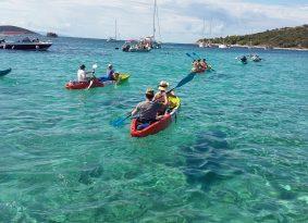 start from blue lagoon on kayak tour