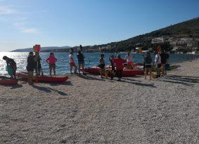 Beach Start sea kayaking trogir