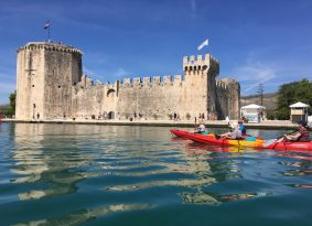 Fortress Kamerlengo, sea kayaking around Trogir Croatia