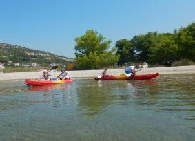 Pantana sandy beach Trogir Croatia